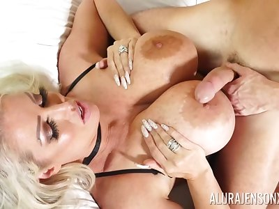 Alura Jenson's unselfish knockers and thunder thighs shake during hot sex