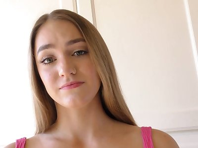 Hardcore fucking at home concerning small breast hottie Kenzie Madison