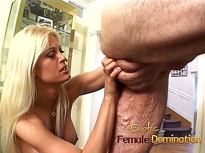 Absolutely dazzling blonde dominatrix enjoys a hardcore session with a slave-6