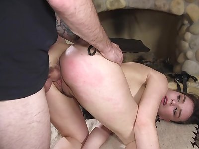 Obedient slut fucked in merciless hardcore modes