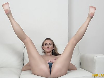 Kira Parvati spreads her legs for a stranger's hard cock on the bed