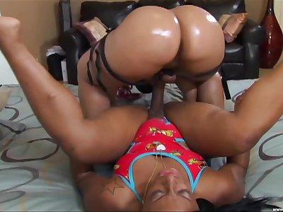 BBW ebony Pinky enjoys hardcore lesbian fuck with sexy girl