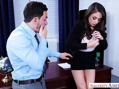 Afternoon Hot Sex With Saleable Bombshell at Office