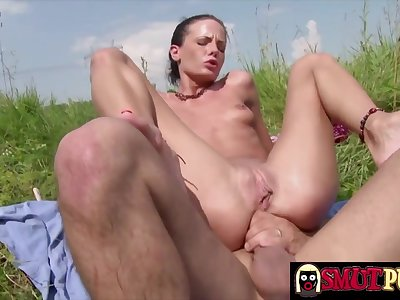 Hot n horny brunette sluts take thick dicks in her tight assholes and win fucked willing