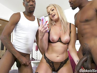 Slutty blonde wife decides to go black in style