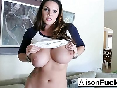 Big Knocker Alison Tyler rubs will not hear of giant knockers before pleasuring herself