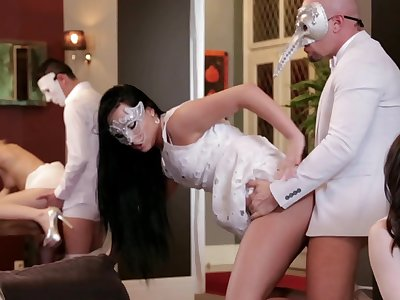 Group bang for Alexis Crystal, Violette Pure, Nathaly Cherie and Ana Rose
