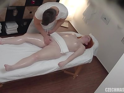 Hot massage with spying cam objurgative into fuck