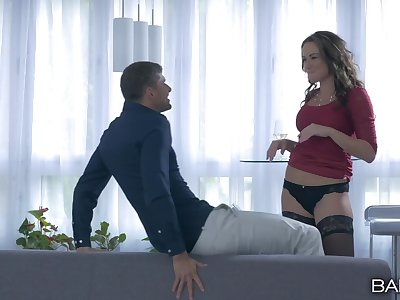 Malarkey deep cunt and arse making out be useful to well-chosen Niki Sweet in stockings