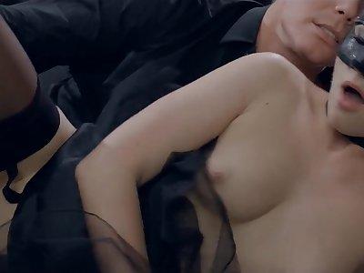 Masked Czech Blond Prickle Babe Vinna Reed Gets Ejaculant Covered